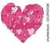 heart love hand written ... | Shutterstock .eps vector #1013932438