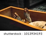 legs of the ancient mummy in... | Shutterstock . vector #1013934193