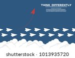 think differently   being... | Shutterstock .eps vector #1013935720