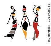 african american dancers.... | Shutterstock .eps vector #1013935756