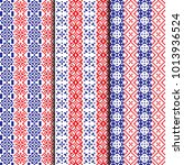 embroidery pattern set.... | Shutterstock .eps vector #1013936524