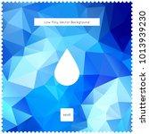 drop vector blue polygonal...