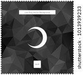 moon vector black polygonal...