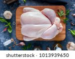 raw chicken for a recipe  top... | Shutterstock . vector #1013939650