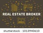 conceptual business... | Shutterstock . vector #1013940610