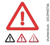 danger sign in flat design on... | Shutterstock .eps vector #1013940736