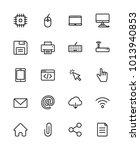 computer icon set   Shutterstock .eps vector #1013940853