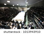 large gathering of hasidim at a ... | Shutterstock . vector #1013943910