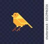 canary bird. pixel art... | Shutterstock .eps vector #1013946316