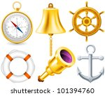 nautical elements set made with ... | Shutterstock .eps vector #101394760