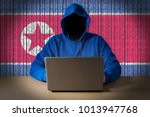 hacker sitting in front of a... | Shutterstock . vector #1013947768