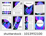 abstract vector layout... | Shutterstock .eps vector #1013952100