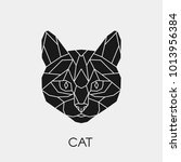 vector. abstract geometric cat... | Shutterstock .eps vector #1013956384