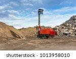 portable lighting equipment for ... | Shutterstock . vector #1013958010