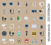 icons connectors cables with... | Shutterstock .eps vector #1013958634