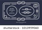 nautical rope knots and frames... | Shutterstock .eps vector #1013959060