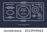 nautical rope knots and frames... | Shutterstock .eps vector #1013959063