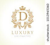 luxury d letter and crown... | Shutterstock .eps vector #1013965360