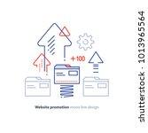 web site promotion concept ...   Shutterstock .eps vector #1013965564