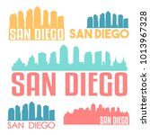 san diego california usa flat...   Shutterstock .eps vector #1013967328
