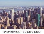 manhattan midtown skyscrapers... | Shutterstock . vector #1013971300