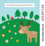 card with tree for ecology... | Shutterstock .eps vector #101397133