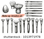 vector set with hand drawn make ... | Shutterstock .eps vector #1013971978