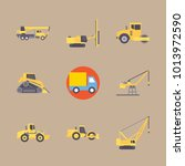 icons construction machinery... | Shutterstock .eps vector #1013972590