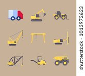 icons construction machinery... | Shutterstock .eps vector #1013972623