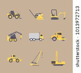 icons construction machinery... | Shutterstock .eps vector #1013972713