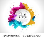 happy holi vector elements for... | Shutterstock .eps vector #1013973700