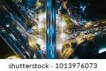 drone photography of busy... | Shutterstock . vector #1013976073