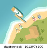 summer holiday on tropical... | Shutterstock . vector #1013976100