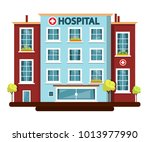 hospital vector flat design... | Shutterstock .eps vector #1013977990