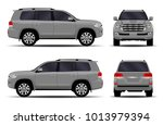 big car. front view  side view  ... | Shutterstock .eps vector #1013979394