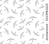 fying bird seamless pattern....   Shutterstock .eps vector #1013981623