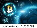 cryprocurrency blockchain... | Shutterstock . vector #1013982589