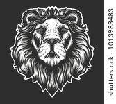 heraldic lion's head isolated... | Shutterstock .eps vector #1013983483