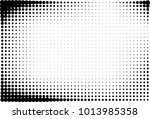 abstract futuristic halftone...   Shutterstock .eps vector #1013985358