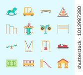 icons about amusement park with ...   Shutterstock .eps vector #1013987380