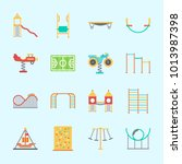 icons about amusement park with ... | Shutterstock .eps vector #1013987398