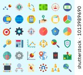 icons about marketing with...   Shutterstock .eps vector #1013989690