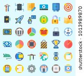 icons about digital marketing... | Shutterstock .eps vector #1013989870