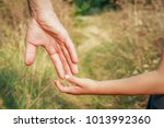 beautiful hands outdoors in a... | Shutterstock . vector #1013992360