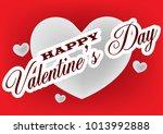 valentine's day sticker ...   Shutterstock .eps vector #1013992888