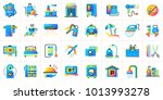 big flat icons set of hotel... | Shutterstock . vector #1013993278