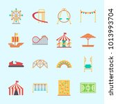 icons about amusement park with ... | Shutterstock .eps vector #1013993704