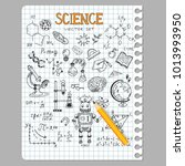 science education doodle set of ... | Shutterstock .eps vector #1013993950