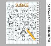 science education doodle set of ... | Shutterstock .eps vector #1013993950