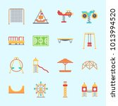 icons about amusement park with ...   Shutterstock .eps vector #1013994520